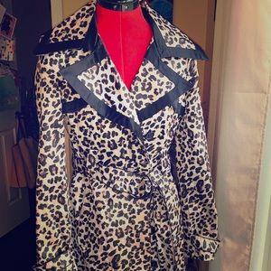 Animal Print trench coat